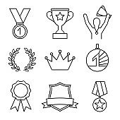 Awards line icons