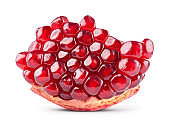 Pomegranate. Pomegranate isolated on white background. With clipping path. Full depth of field.