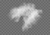 Realistic Transparent special effect stands out with fog or smoke. White cloud vector, fog or smog. EPS 10