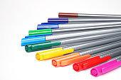 Color multicolored set of pens