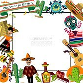 Flat Mexico Travel Template