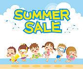 Banner ads of summer sale