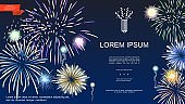 Realistic Holiday Fireworks Template
