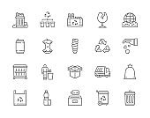 Set of 20 line icon