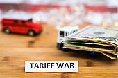 Tariff War shipping, trade and commerce concept