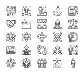 Set of Human Resources Line Icons. Employee, Freelancer, Recruitment and more.