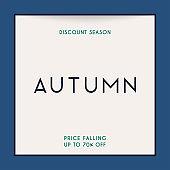 Discount season. Sale. Autumn sale Banner, Poster, Flyer.  Vector illustration.