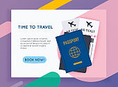 Travel around the World. Vacation booking.  Flat design modern vector illustration concept.