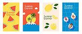 Set of season sale banner templates. Summer Sale Banner. Poster, Flyer, Vector.