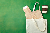 bamboo cup, eco bag and craft packs