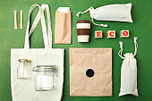 Reusable bamboo glass, eco bag and other various recyclable