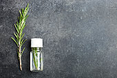 rosemary and bottle aroma oil