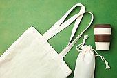 Eco bag and reusable bamboo cup