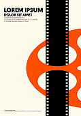 Movie and film poster modern vintage retro style