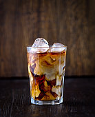 glass of iced coffee with milk