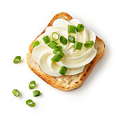 toasted bread with cream cheese