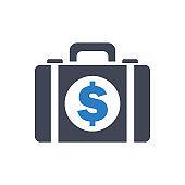 Dollar Money Briefcase Icon
