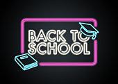 Back to school retro neon sign