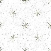 Hand Drawn grey Snowflakes Christmas Seamless Patt