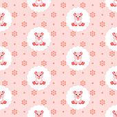 Cute baby pig in bib. Icon. Seamless vector illustration. Flat.