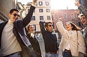 Italian millennials students in Venice - Italy