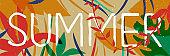 Tropical Summer jungle plant web banner art