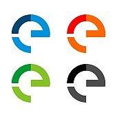 Set E Letter Vector Logo Template Illustration Design. Vector EPS 10.