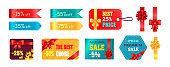 Autumn Sale Tags Icon Vector Illustration