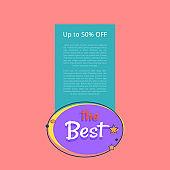 Best Night Sale Banner with Moon Stars up to 50 %