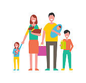 Family Happy Day for People Vector Illustration