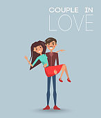 Couple Love Dating Boyfriend and Girlfriend Vector