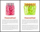 Preserved Food Poster Lime or Lemon Sweet Cherries