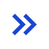 Modern blue arrow, great design for any purposes. Art vector illustration. Simple isolated pictogram.