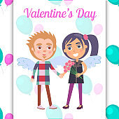 Valentines Day Poster First Date Teenage Couple