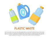 Plastic Waste Sample Color Vector Illustration