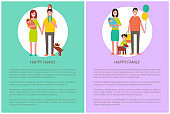 Happy Family Poster Togetherness and Love Concept