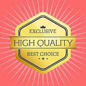 High Quality Best Choice Stamp Premium Label Award