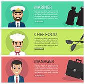People Professions Fat Vector Web Banners Set