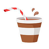 Coffee or Cocoa Vector Illustration in Flat Design