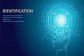 Identification Person Identity Fingerprint Poster