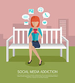 Social Media Addiction Banner