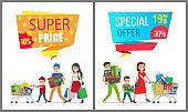Super Price Special Offer Card Vector Illustration