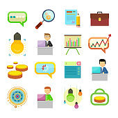 Performance Analysis Search for Solutions Icon Set