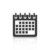 Calendar Icon web design and flat illustration