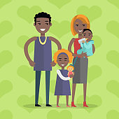Family Vector Concept in Flat Design