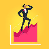 Business Success Vector Concept in Flat Design,