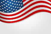 American flag vector illustration stylish design