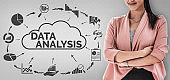 Data Analysis for Business and Finance Concept