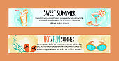 Sweet Hot Fun Summer Banners Set with Accessories
