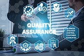 QA Quality Assurance and Quality Control Concept
